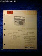 Sony Service Manual CF 160 Cassette Recorder (#0066)