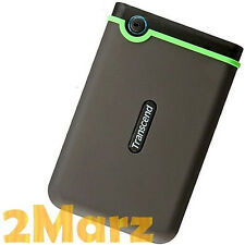 Transcend StoreJet 25M3 1TB 1000GB USB 3.0 External Hard Drive Disk Rough Green