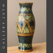 LARGE MID CENTURY MODERN ITALIAN ABSTRACT POTTERY! Vase Gambone Bitossi 50s