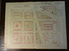 1892 Map of NW DC-  Mass Ave & 3rd Street - Rare large property specific detail