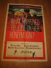 What happened to Julie on her honeymoon Orig, 1sh Movie Poster '56 Doris Day