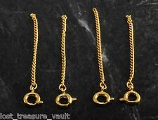 Vintage Chain Guard Brass Gold Extender Safety Catch Jewelry Making Spring Clasp