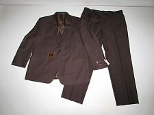 Giorgio Fiorelli Men's 2 Button Suit NWT Size 50 Regular 40W Brown Flat Front R
