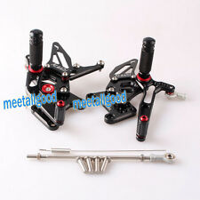 CNC Rearsets Rear set Footpegs For Triumph Speed Triple 1050 2005-2010 Black
