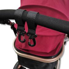 1 Pair Baby Pram Stroller Pushchair Swivel Hanger Hooks For Diaper Bag RE