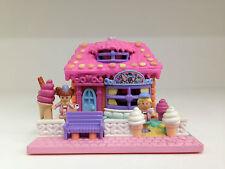 POLLY POCKET Vintage 1995 Strawberry Ice Cream Parlour **RARE & COMPLETE**