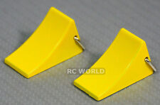 RC 1/10 Scale Car Truck Accessories Metal WHEEL CHOCKS Wheel Stop Yellow -PAIR-