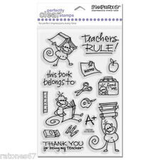 New Stampendous SCHOOL FOR CHANGITO Clear Stamps Monkey Teachers Books Learn