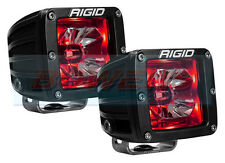 """PAIR OF RIGID INDUSTRIES RADIANCE 20202 12V 3"""" LED PODS WITH RED BACK LIGHTING"""
