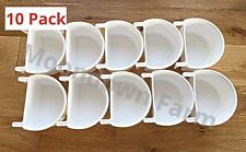 10 X PLASTIC D CUPS Feeder Pots 7.5CM With Hooks Aviary Birds Finches Canary