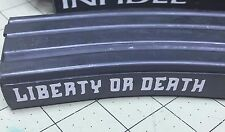 Liberty or Death decal 5 pack sticker vinyl magazine AR15 clip airsoft oracal