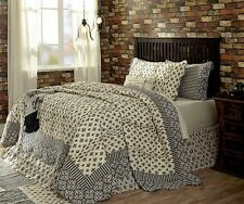 Elysee King Quilt by VHC Brands | Colors of Creme, Black, Gray & Red