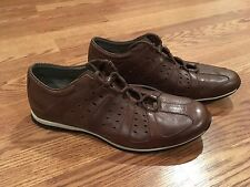 NEW Men's Tsubo 8265 Brown Leather Casual Sneaker Shoes USA 10.5 - EU 44