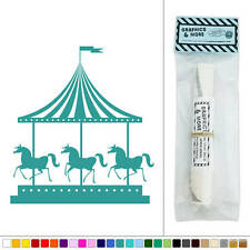 Carousel Horses Vintage Carnival Ride Vinyl Sticker Decal Wall Art Décor