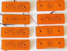 8 LED 24V ORANGE AMBER SIDE MARKER INDICATOR LAMP LIGHT TRUCK LORRY TRAILER BUS