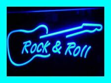 ADV PRO i303-b Rock and Roll Guitar Music Neon Signs