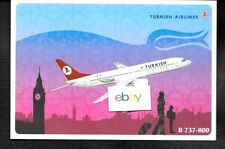 TURKISH AIRLINES THY BOEING 737-800 AIRLINE ISSUE POSTCARD