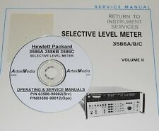 HP Ops & Service Manual 3-Vol. Set for 3586A 3586B 3586C Selective Level Meter