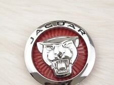 JAGUAR RED LARGE GROWLER FRONT BONNET HOOD GRILLE EMBLEM BADGE ROUNDEL 70MM