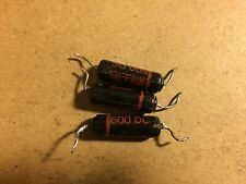 3 Vintage Sprague Black Beauty .0018 uf 600v 160P Capacitors Guitar Tone Caps