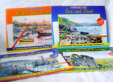 NEW 4 BOOKS PICTURES COPY COLOUR ADULT COLOURING SEA RIVERS MOUNTAINS FOREST