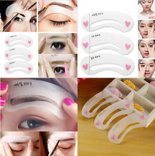3 Pcs Women  Eyebrow Design Stencil Eye Makeup Template kit Beauty Fashion