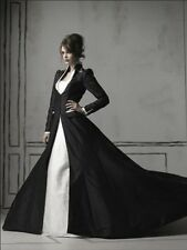 Gothic Wedding Dress Sweetheart White And Black Wedding Dresses A Line