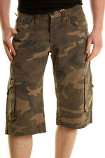 BNWT ABSOLUT JOY MILITARY GREEN CAMO SHORTS PANTS ARMY COMBACT CAMOUFLAGE S W30