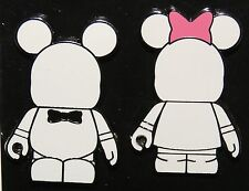 Disney Vinylmation Couple Black Tie and Pink Bow 2 Pin Set New On Card
