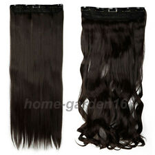 Long Wavy Straight Full Head Clip in as remy human Hair Extensions 50Colors SC91