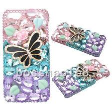 3D Handmade Glitter Luxury Bling Diamonds Pearls Hard PC Phone back Case Cover B