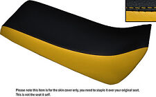 BLACK & YELLOW CUSTOM FITS YAMAHA BLASTER 02-04 DUAL LEATHER SEAT COVER ONLY