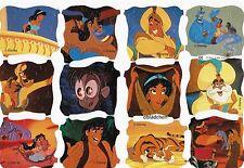 # GLANZBILDER # MLP 1832 DISNEY Märchen Aladin, sehr seltener Bogen 1 A Zustand