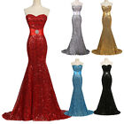 Sexy Sequins Mermaid Party Prom Ball Bridesmaid Dresses Formal Evening Long Gown