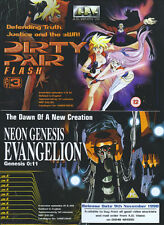 Dirty Pair Flash & Neon Genesis Evangelion 1998 Magazine Advert #4306