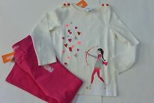 Gymboree 6 VALENTINE'S DAY Girl W/Bow & Arrow LS Top & Hot Pink Ponte Pants NWT