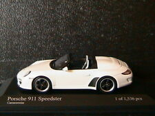 PORSCHE 911 997 II SPEEDSTER 2010 CARRARAWEISS MINICHAMPS 400069531 1/43 WHITE