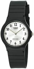 Casio MQ24-7B3, Classic Analog Watch, Black Resin, White Dial, Water Resistant