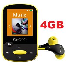 SanDisk Sansa Clip Sport Yellow 4GB Digital Media Player MP3 LCD Radio Micro SD