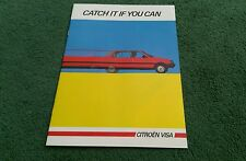 August 1984 / 1985 CITROEN VISA UK BROCHURE inc CONVERTIBLE GT TRS RE E SPECIAL