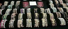 20 WHOLESALE BULK LOT 5PC PILLOW CROSS BAR BEAD PAVE BRACELET SETS USA HANDMADE