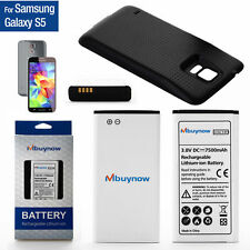 7500mAh For Samsung Galaxy S5 GT-i9600/SM-G900 Extended Battery + Cover in Black