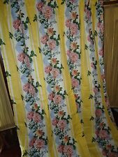 CROSCILL PRINCESS LINED POLE TOPE DRAPERY PANEL CURTAIN 4 PC W/TIEBACKS YELLOW