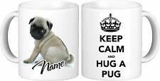 Personalised KEEP CALM Fawn Pug Mug High Quality 11oz Great Birthday Gift