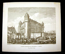 Canons amenés de Chantilly à Paris Révolution française Prieur Berthault XIXème