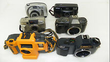 Lot Of 6 35mm Film Camera Bodies – Canon Argus Pentax Nikon Auction 7886