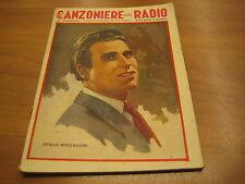 CANZONIERE DELLA RADIO 27° FASCICOLO - LIRE 1.20 - COPERTINA BAGGIOLINI