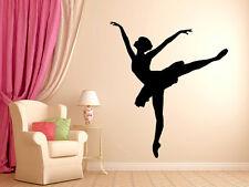 """Ballerina Dancer Ballet Wall Decal Silhouette #4 Wall Decal Vinyl 29"""" Tall"""