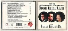 Cd DOMINGO CARRERAS CABALLE' From the official Barcelona games ceremony Olympic