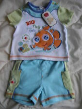 DISNEY STORE PARIS BABY BOY'S NEMO OUTFIT SIZE NEWBORN 0/3 MONTHS PRETTY ! NEW